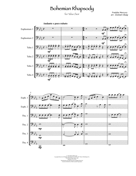 Bohemian Rhapsody For Tuba Choir