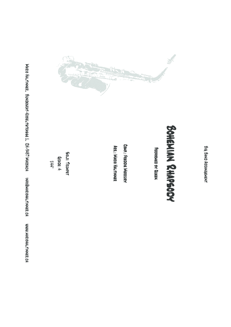 Bohemian Rhapsody Queen Comp Freddie Mercury Jazz Ensemble Score Parts