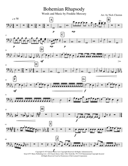 Bohemian Rhapsody String Ensemble 2nd Cello
