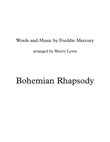 Bohemian Rhapsody String Quartet For String Quartet