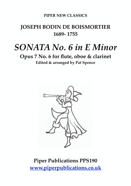 Boismortier Sonata In E Minor Opus 7 No 6 For Flute Oboe Clarinet