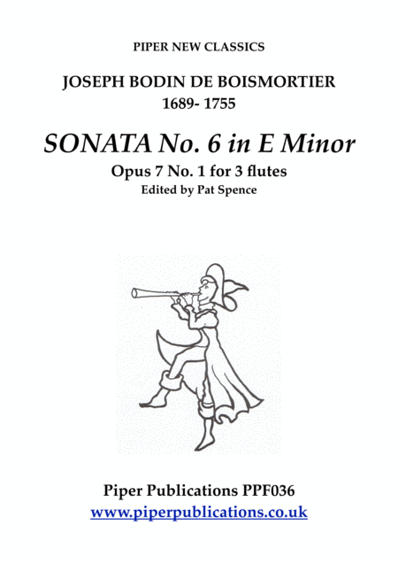 Boismortier Sonata In E Minor Opus 7 No 6 Pb 285 For 3 Flutes