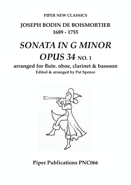 Boismortier Sonata In G Minor Opus 34 No 1 For Flute Oboe Clarinet Bassoon