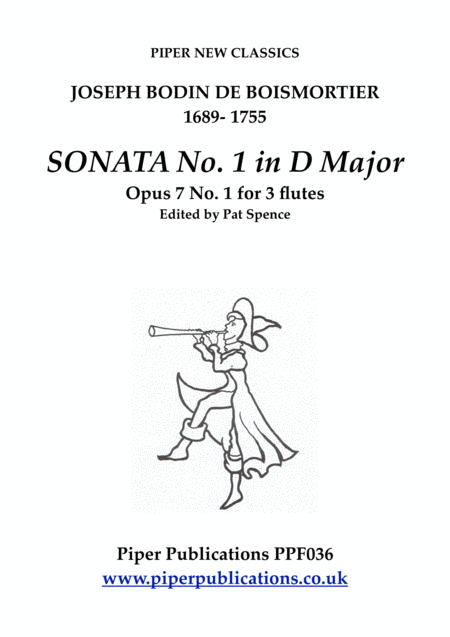 Boismortier Sonata No 1 In D Major Opus 7 No 1 For 3 Flutes