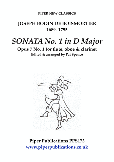 Boismortier Sonata No 1 In D Major Opus 7 No 1 For Flute Oboe Clarinet In A