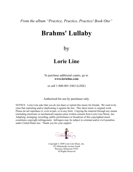 Brahms Lullaby Easy