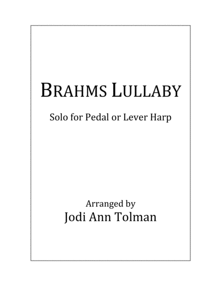 Brahms Lullaby Harp Solo
