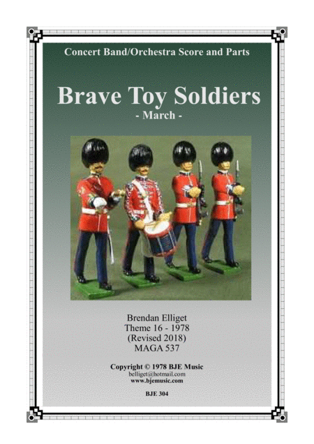 Brave Toy Soldiers March Concert Band Orchestra Score And Parts Pdf