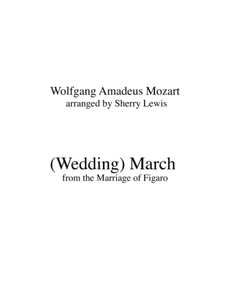 Bridal March From The Marriage Of Figaro String Trio For String Trio