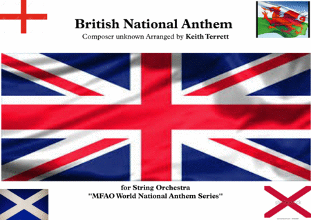 British National Anthem For String Orchestra Mfao World National Anthem Series