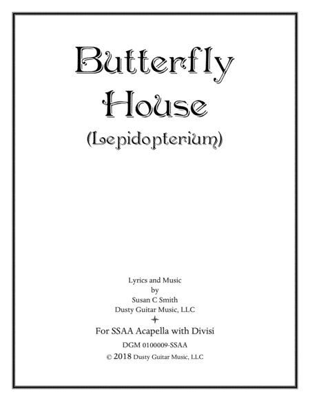 Butterfly House Lepidopterium Ssaa Acapella