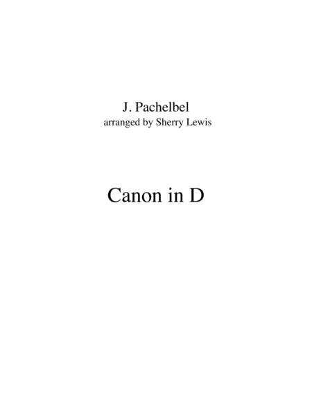 Canon In D Trio For String Trio Woodwind Trio Any Combination Of Two Treble Clef Instruments And One Bass Clef Instrument Concert Pitch