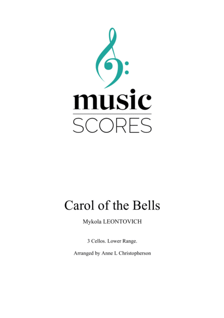 Carol Of The Bells 3 Cellos Lower Range