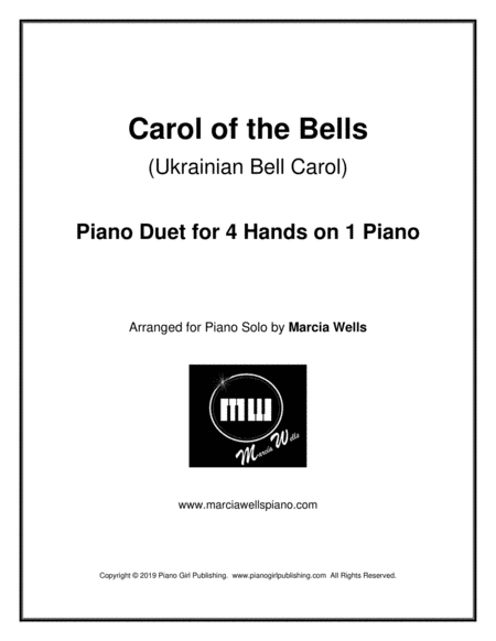 Carol Of The Bells Ukrainian Bell Carol Piano Duet