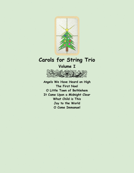 Carols For String Trio Volume I