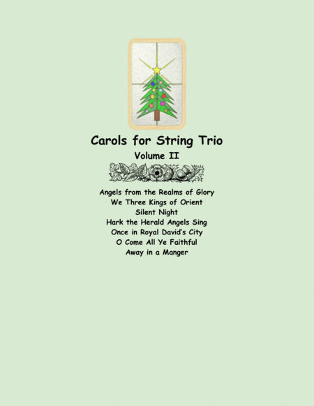 Carols For String Trio Volume Ii