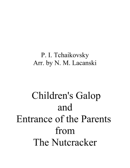 Childrens Galop And Entrance Of The Grandparents From The Nutcracker