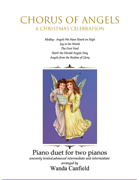Chorus Of Angels For Piano Duet 2 Pianos