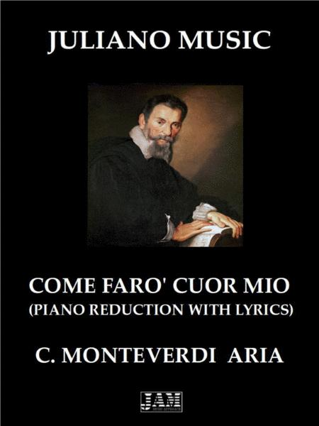 Come Faro Cuor Mio Piano Reduction With Lyrics C Monteverdi