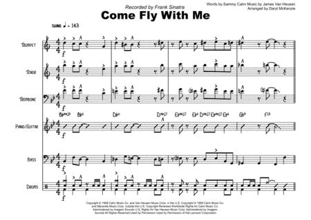 Come Fly With Me Vocal With Small Band 3 Horns Key Of Bb