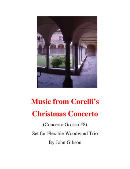 Corelli From The Christmas Concerto Woodwind Trio Flexible Instrumentation