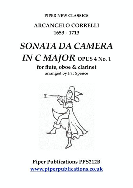 Correlli Sonata Da Camera In C Major Opus 4 N0 1 For Flute Oboe Clarinet
