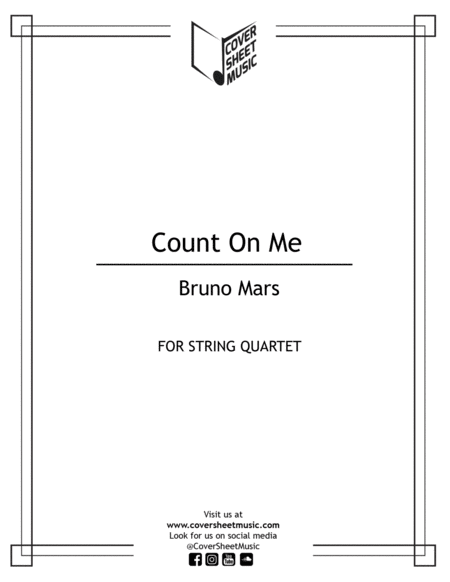 Count On Me String Quartet