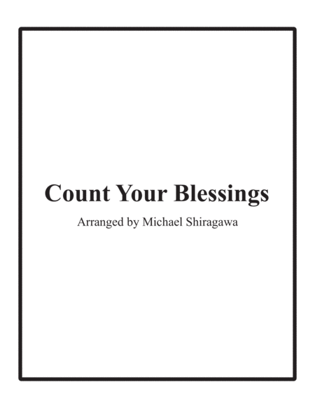 Count Your Blessings Bassoon