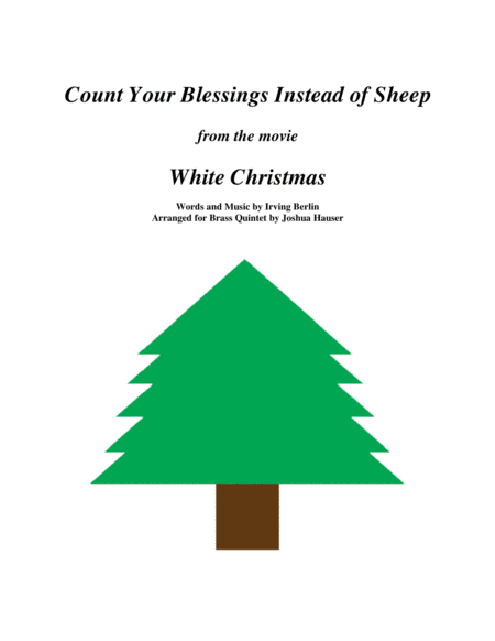 Count Your Blessings Instead Of Sheep From The Movie White Christmas Brass Quintet