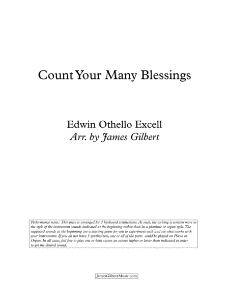 Count Your Many Blessings Ky02