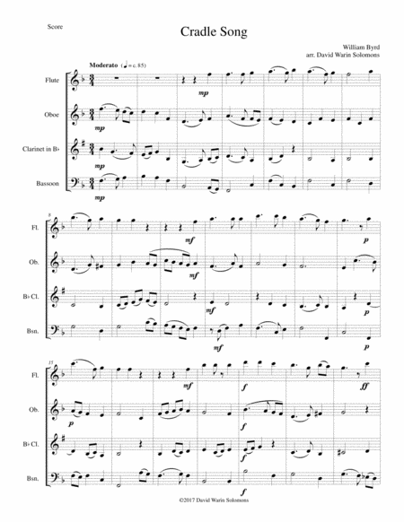 Cradle Song For Wind Quartet