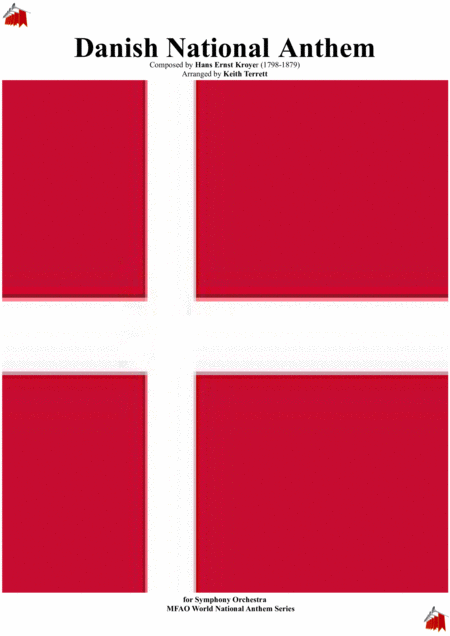 Danish National Anthem Der Er Et Yndigt Land For Symphony Orchestra Keith Terrett Olympic Anthem Series