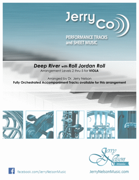 Deep River With Roll Jordan Roll Arrangements Level 2 5 For Viola Written Acc Hymn