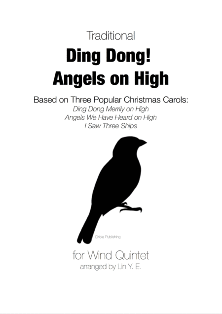 Ding Dong Angels On High For Wind Quintet Based On 3 Christmas Carols