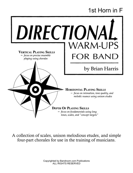 Directional Warm Ups For Band Method Book Part Book Set F 1st Horn In F 2nd Horn In F And Site License To Photocopy