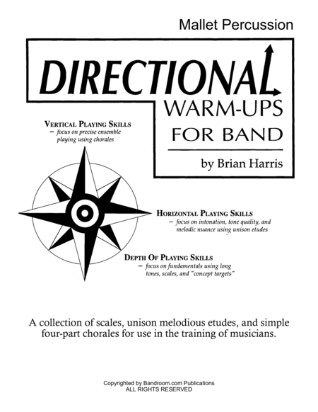 Directional Warm Ups For Band Method Book Part Book Set I Timpani Mallets Percussion And Site License To Photocopy