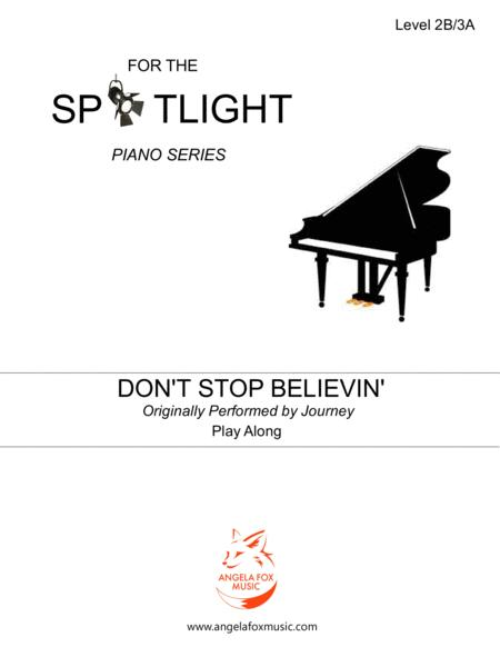 Dont Stop Believin Play Along Level 2b 3a