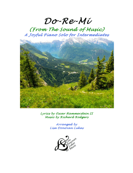 Do Re Mi From The Sound Of Music An Intermediate Piano Solo
