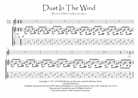 Dust In The Wind Guitar Fingerstyle Solo