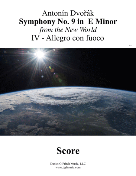 Dvorak New World Symphony No 9 Movement Iv With Transposed Instruments And Full Score Allegro Con Fuco