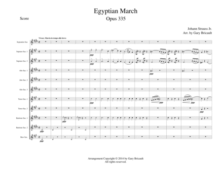 Egyptian March Opus 335