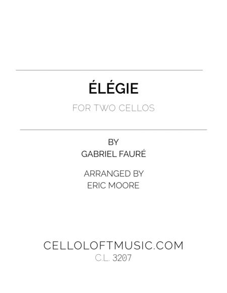 Elegie For Two Cellos