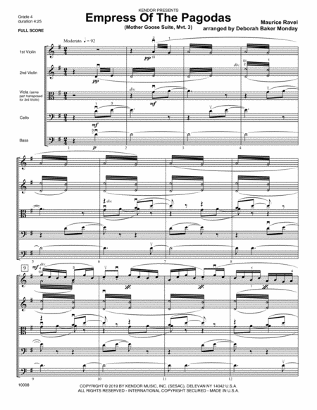 Empress Of The Pagodas Mother Goose Suite Mvt 3 Full Score