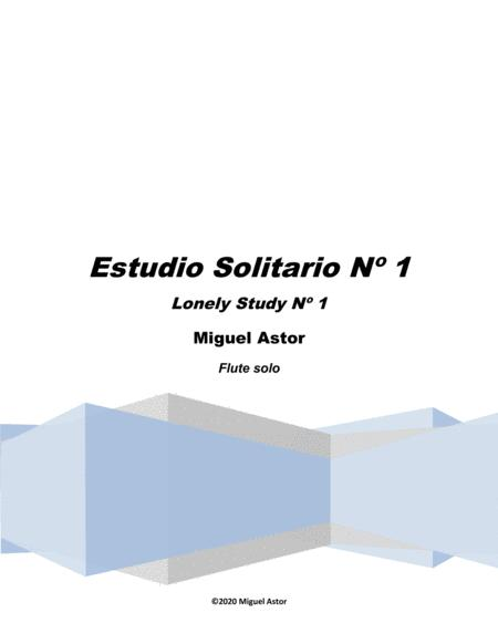 Estudio Solitario N 1 Lonely Study N 1