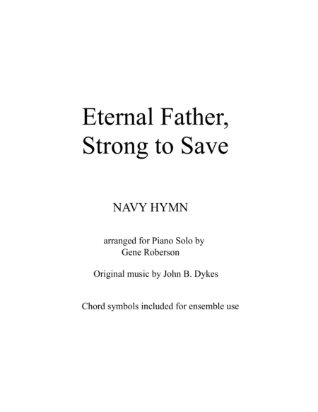 Eternal Father Strong To Save Navy And Armed Forces Hymn