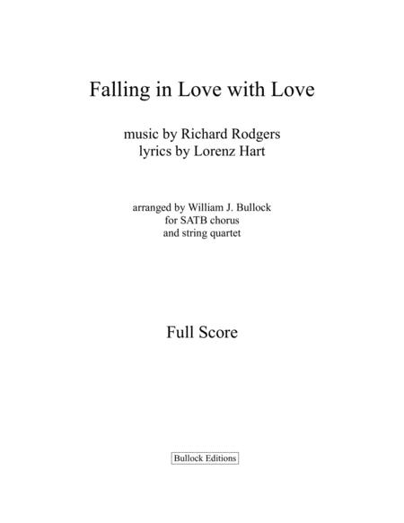 Falling In Love With Love Full Score Parts
