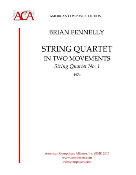 Fennelly String Quartet In Two Movements