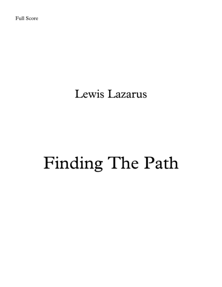 Finding The Path