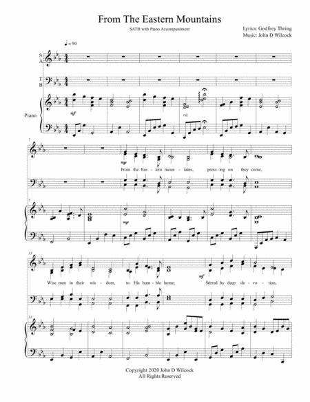 From The Eastern Mountains Christmas Song For Satb And Piano
