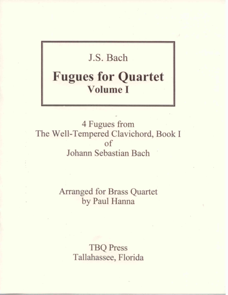 Fugues For Quartet Volume I